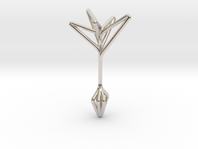 Little Tree N5 ,Fine Pendant. Pure Elegance in Rhodium Plated Brass