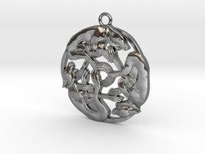 Celtic-Dog in Polished Silver