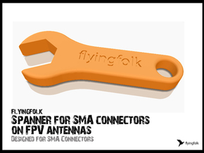Spanner for SMA connectors on FPV antennas in White Strong & Flexible