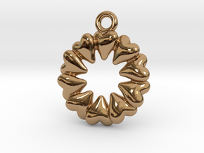 Round Dance Of Hearts in Polished Brass