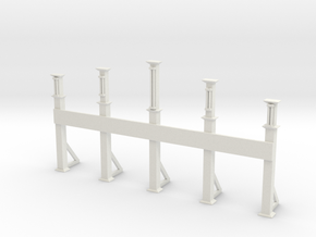 carnival entrance gate without show name in White Natural Versatile Plastic: 1:87 - HO