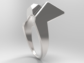 Knee Ring S B in Polished Silver: 10 / 61.5