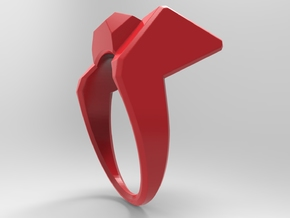 Knee Ring Pl in Red Processed Versatile Plastic: 10 / 61.5