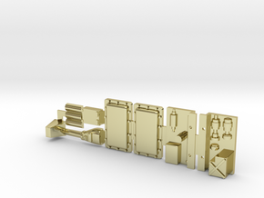 Panther G Blocks And Engine Bits for Y-Wing in 18k Gold