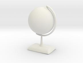 Printle Earth Globe in White Strong & Flexible