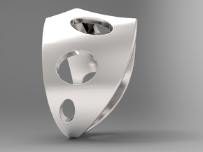 Sail Ring S B in Polished Silver: 10 / 61.5