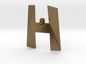 Distorted letter H in Natural Bronze