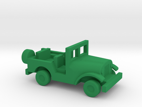 1/144 Scale M38A1 Jeep in Green Strong & Flexible Polished
