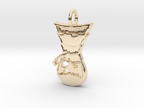 Pour Over Pendant in 14k Gold Plated Brass