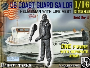 1-16 USCG Helmsman 3 in White Natural Versatile Plastic