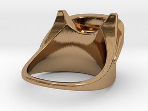 Wind Ring S B in Polished Brass: 3 / 44