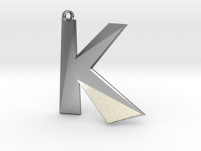 Distorted letter K in Natural Silver
