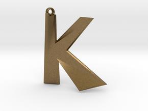 Distorted letter K in Natural Bronze