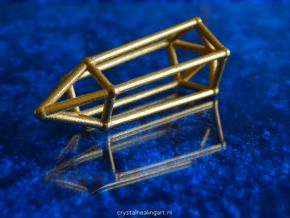 Phi Vogel Crystal - 5 Sided in Polished Gold Steel