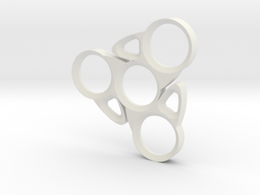 Blade Spinner in White Natural Versatile Plastic