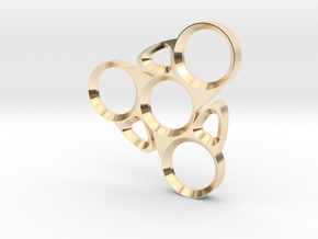 Blade Spinner in 14k Gold Plated Brass
