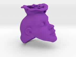 Flower Ring in Purple Processed Versatile Plastic