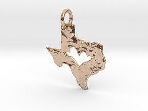 Soaring Heart of Texas in 14k Rose Gold Plated Brass