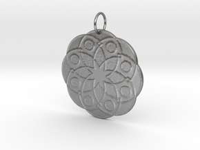 Rose Window Pendant in Natural Silver