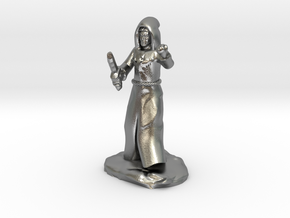 Dragon Cultist with Dagger in Natural Silver