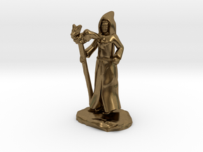Dragon Cultist with Staff in Natural Bronze