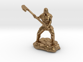 Female Human Cleric of Wee Jas With Scythe in Natural Brass