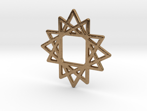 16 Point Star in Natural Brass