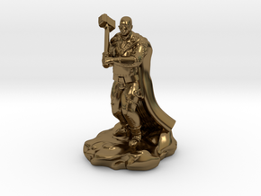 Bald Half Giant With Maul in Polished Bronze