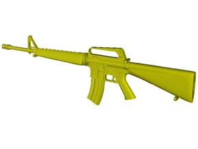 1/24 scale Colt M-16A1 rifle x 1 in Smooth Fine Detail Plastic