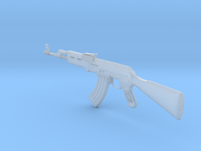 AK 47 assault rifle in Smooth Fine Detail Plastic: 1:48 - O