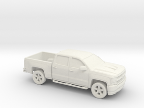 1/87  2016 Chevrolet Silverado in White Natural Versatile Plastic