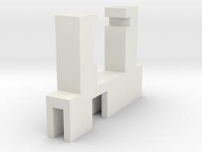 Halter Märklin LS E-Modell LX-U ausgeschnitten in White Natural Versatile Plastic