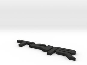 T4R Emblem in Black Natural Versatile Plastic