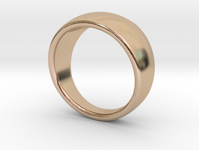 Spherical Ring in 14k Rose Gold Plated Brass: 4 / 46.5