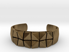 Box Flower Bracelet in Natural Bronze: Small