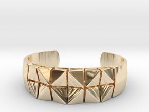 Box Flower Bracelet in 14k Gold Plated Brass: Small