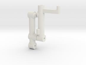 Wheel Strut/ Shock Absorber in White Natural Versatile Plastic