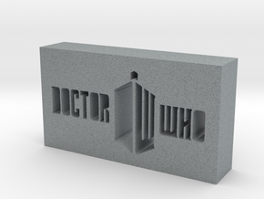 Doctor Who Logo in Polished Metallic Plastic