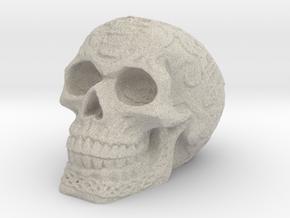 Celtic Skull (Hollow) in Natural Sandstone