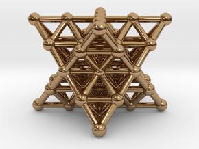 Merkaba Matrix 2 - Star tetrahedron grid in Polished Brass