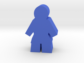 Worker Meeple, Male in Blue Processed Versatile Plastic