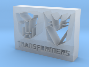 Transformers Logo in Smooth Fine Detail Plastic