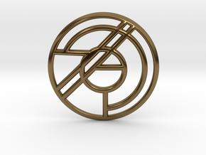Emblem Pendant in Polished Bronze