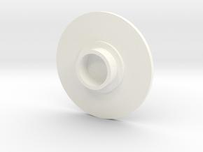 Fidget spinner cap in White Processed Versatile Plastic