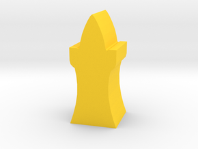 Game Piece, Elven Tower in Yellow Processed Versatile Plastic