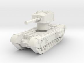 Churchill Crocodile with rotatable turret in White Natural Versatile Plastic