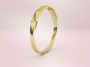 Light ring facets in 18k Gold Plated: 7 / 54