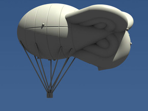 Avorio-Prassone Kite Balloon in White Strong & Flexible: 1:144