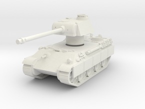Panther tank Rotatable turret in White Natural Versatile Plastic