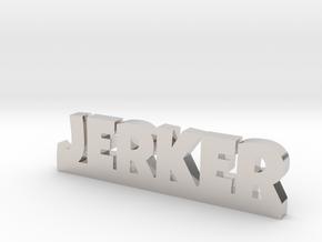 JERKER Lucky in Rhodium Plated Brass